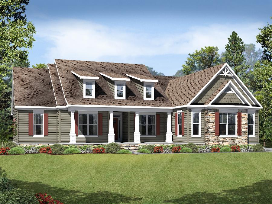 Bridgewater II  - Elevation 4 with Craftsman Windows