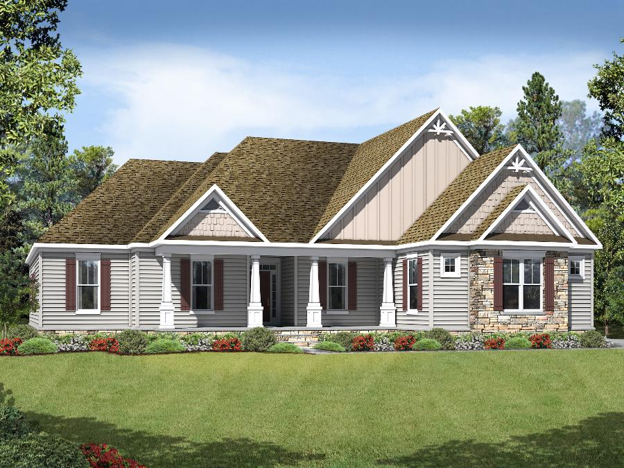 Bridgewater II  - Elevation 5 with Craftsman Windows