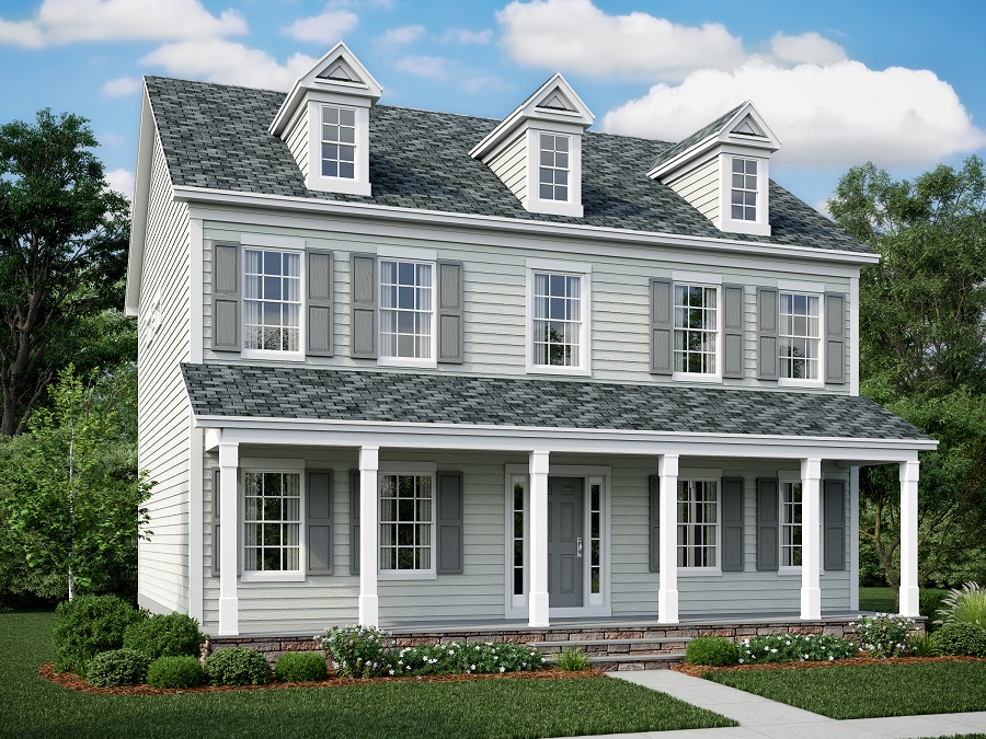 McKinley Heritage - McKinley Seaboard featuring Full Front Porch, Dormers and Stone to Grade