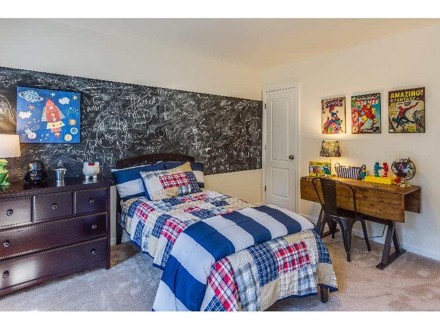 A playful boy's bedroom in the the Bluffs at Crane's Corner Chelsey Model
