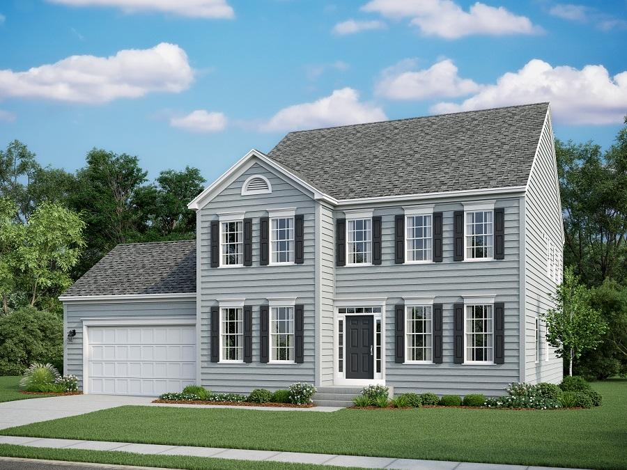 The Ashland featuring the Eastern Seaboard Elevation with Front Load Garage