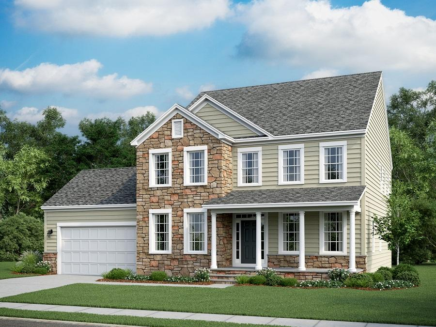 Home Front Elevation Stone : Ashland a bedroom bath home