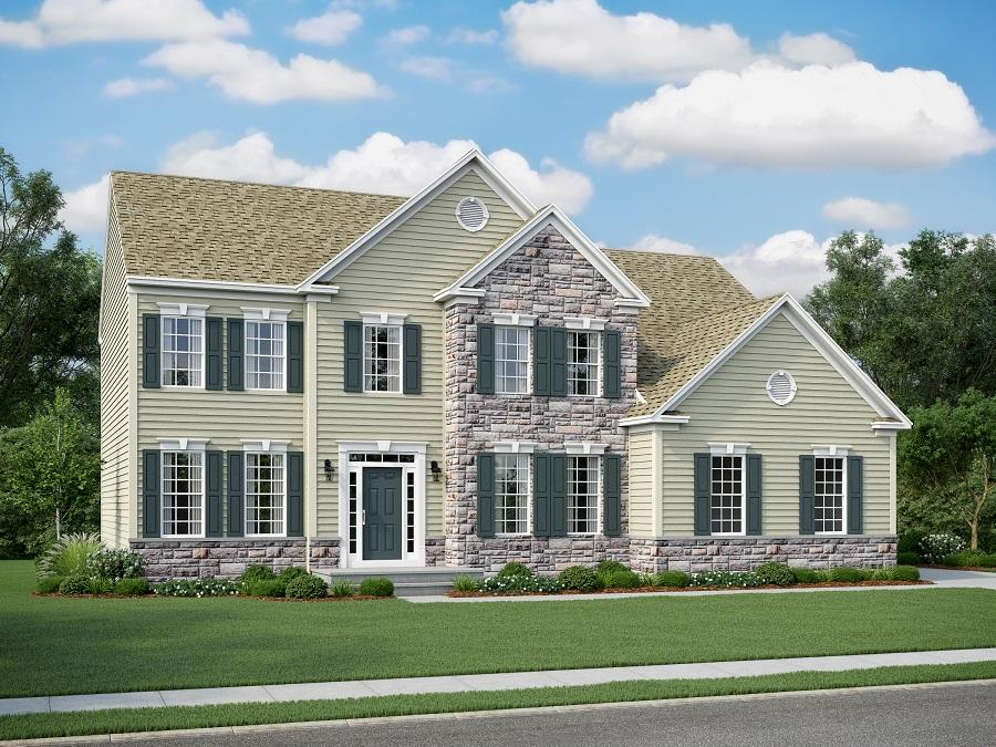 Chelsey Eastern Seaboard Elevation with Partial Stone Front