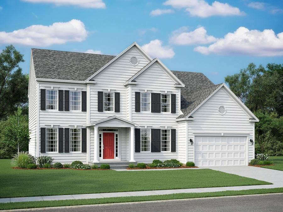 Chelsey Eastern Seaboard Elevation with Optional Portico