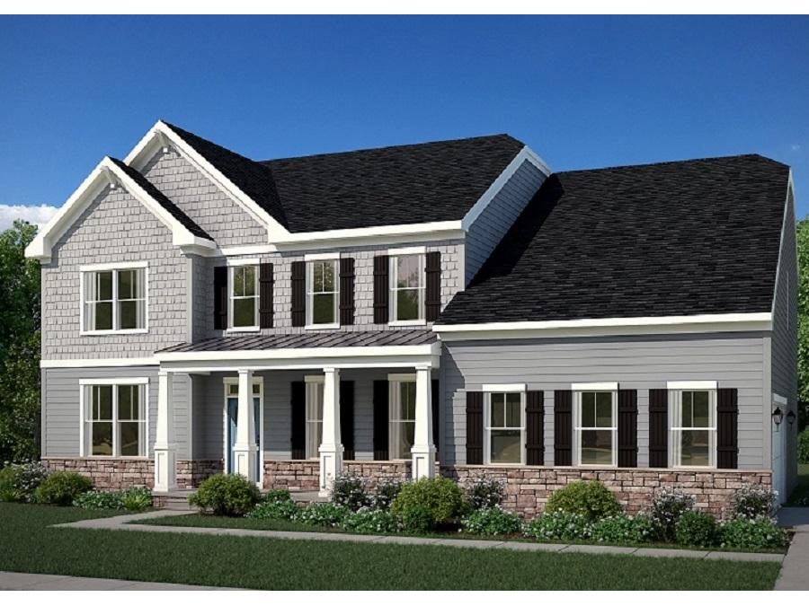 The Carson with Optional Craftsman Elevation with Opt. Stone to Grade, and Opt. Side Load Garage