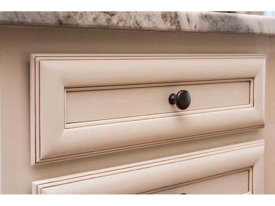 Legacy 5 Piece Drawer Head in Maple Churchill Painted Ivory with Harvest Glaze