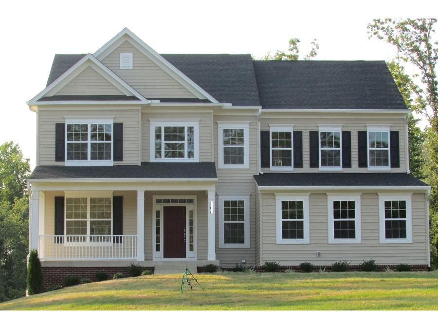 beautiful griffin farmhouse elevation with brick foundation to grade with farm house elevations - Farmhouse Elevations