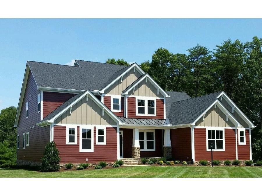 The Montgomery, Craftsman Elevation featuring Hardi Plank Siding