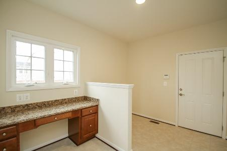 The mudroom entrance from the garage allows for ease of living